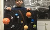 Güneş sistemi modeli maketi hazırlama ödevi